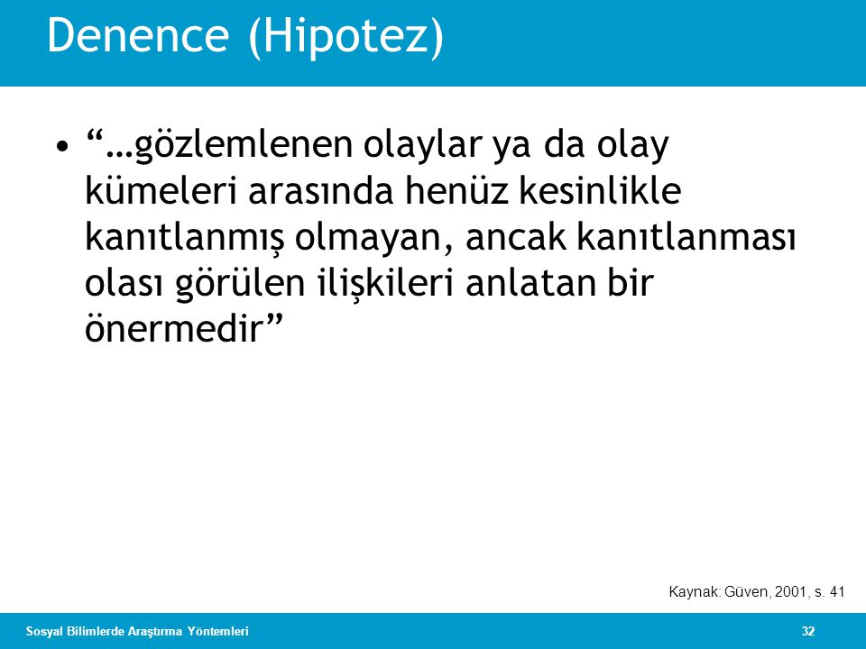 Denence (Hipotez)