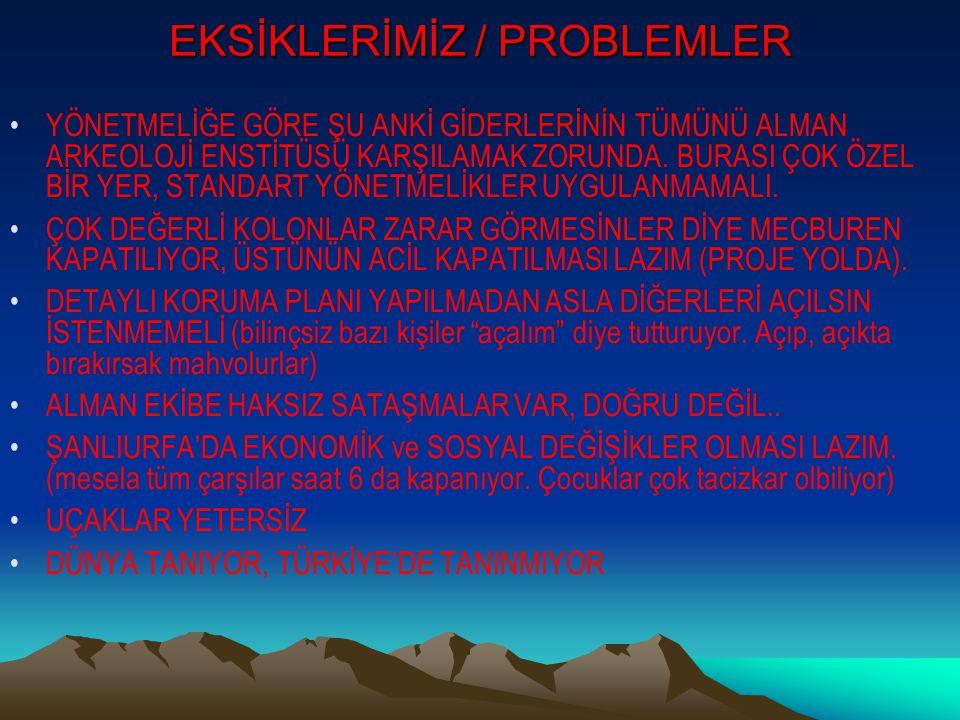 EKSİKLERİMİZ / PROBLEMLER