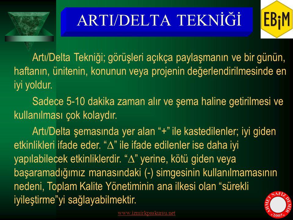 ARTI/DELTA TEKNİĞİ AHMET NAFİZ DEMİR * * 2005