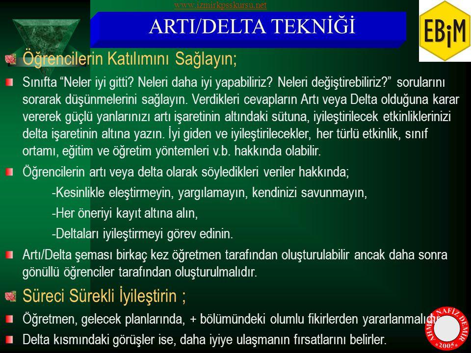 AHMET NAFİZ DEMİR * * 2005 ARTI/DELTA TEKNİĞİ