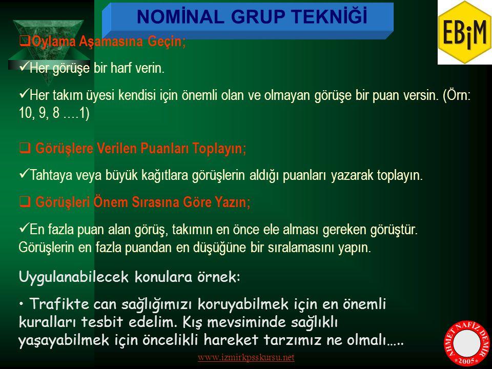 AHMET NAFİZ DEMİR * * 2005 NOMİNAL GRUP TEKNİĞİ