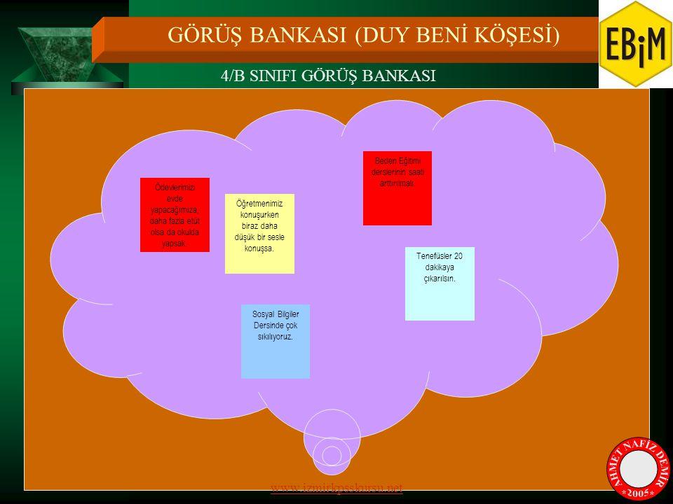 AHMET NAFİZ DEMİR * * 2005 GÖRÜŞ BANKASI (DUY BENİ KÖŞESİ)