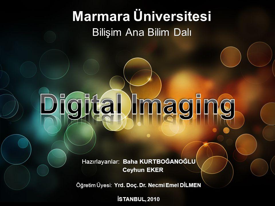 Digital Imaging Marmara Üniversitesi Bilişim Ana Bilim Dalı