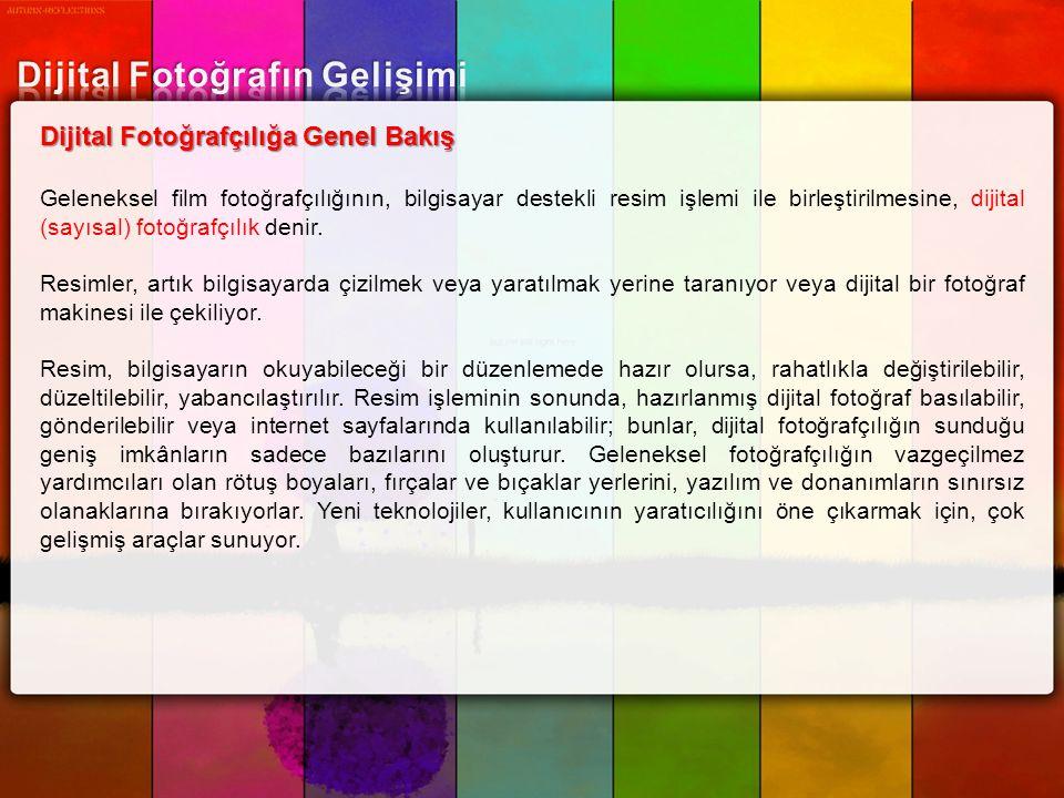 Dijital Fotoğrafın Gelişimi