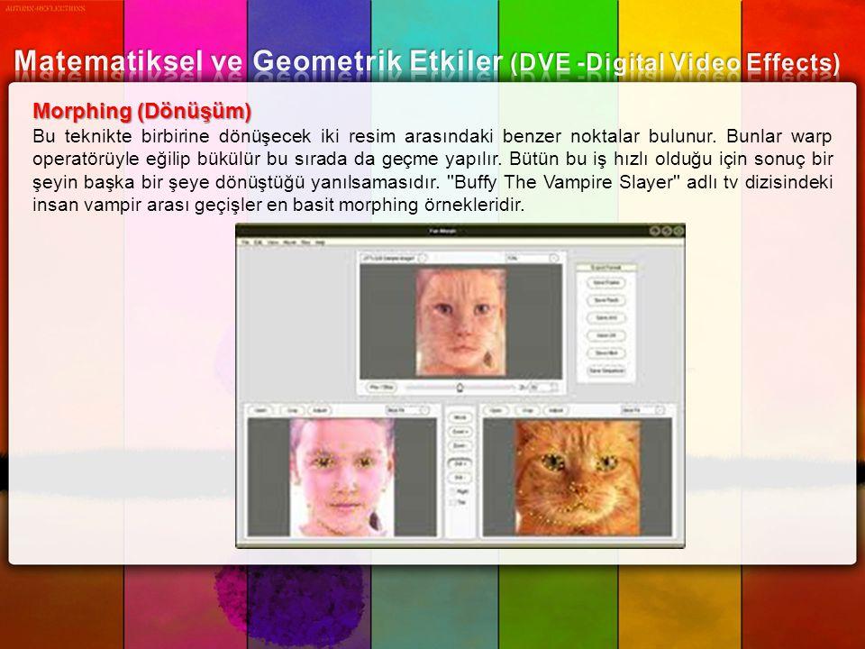 Matematiksel ve Geometrik Etkiler (DVE -Digital Video Effects)