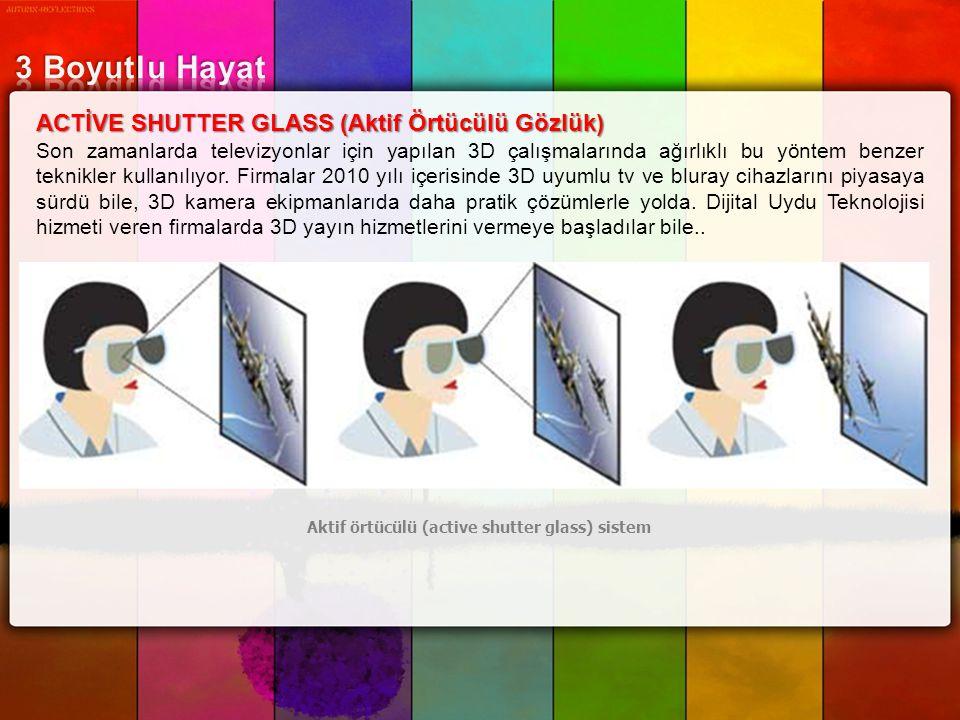 Aktif örtücülü (active shutter glass) sistem