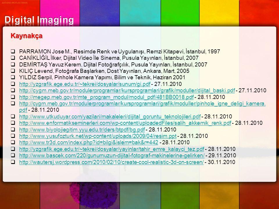 Digital Imaging Kaynakça
