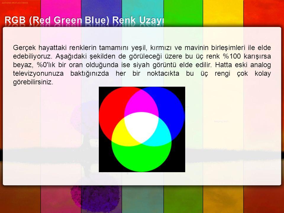 RGB (Red Green Blue) Renk Uzayı