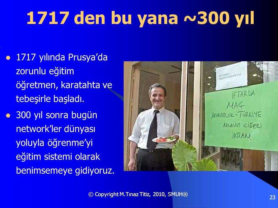 1717 den bu yana ~300 yıl 1717 yılında Prusya'da zorunlu eğitim öğretmen, karatahta ve tebeşirle başladı.