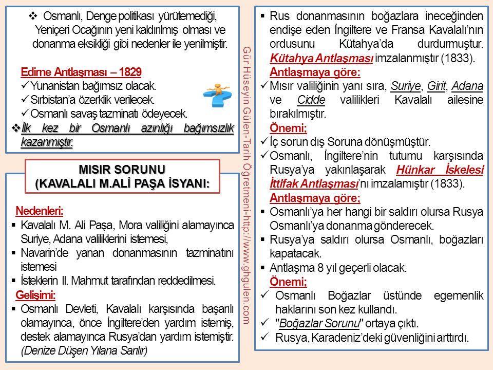 (KAVALALI M.ALİ PAŞA İSYANI: