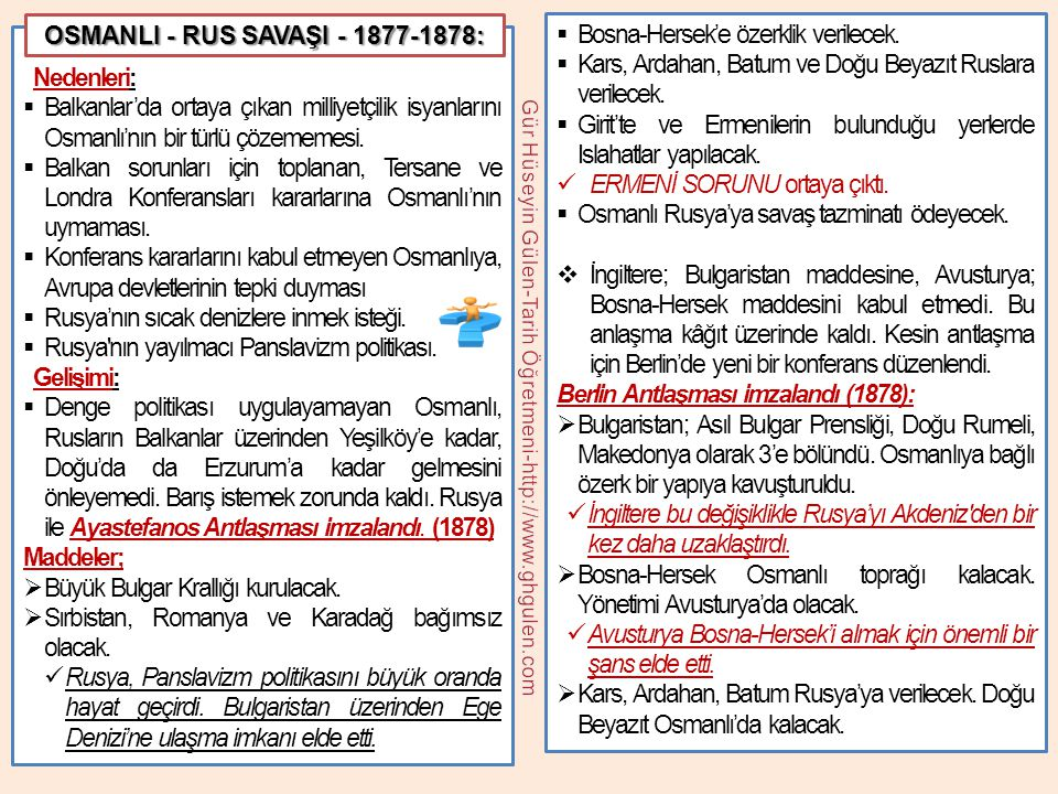 OSMANLI - RUS SAVAŞI - 1877-1878: