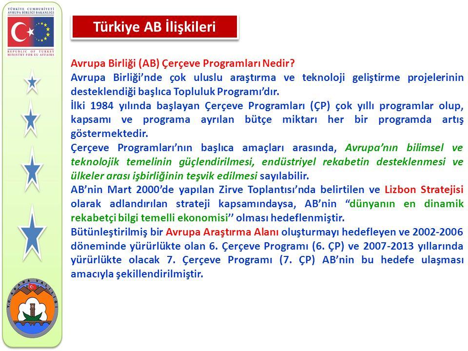 Türkiye AB İlişkileri Avrupa Birliği (AB) Çerçeve Programları Nedir