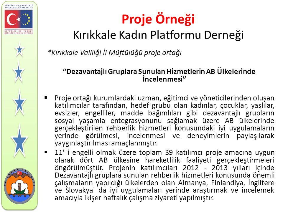 Proje Örneği Kırıkkale Kadın Platformu Derneği