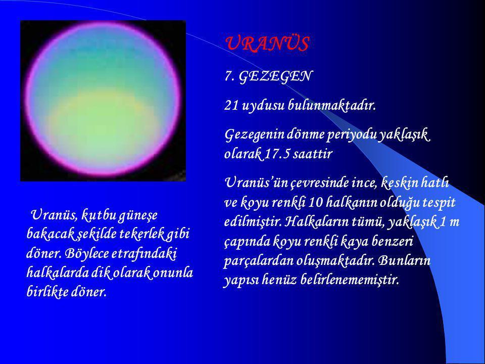 URANÜS 7. GEZEGEN 21 uydusu bulunmaktadır.
