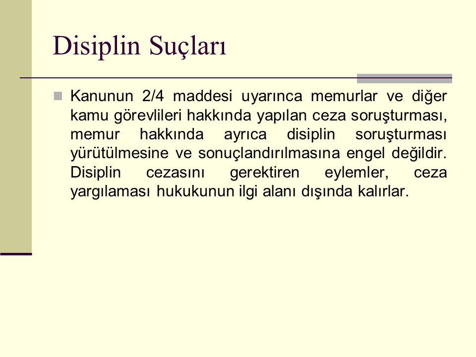 Disiplin Suçları