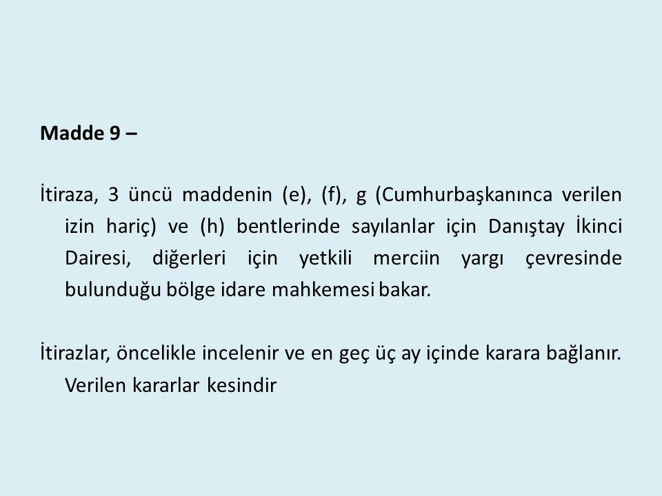 Madde 9 –
