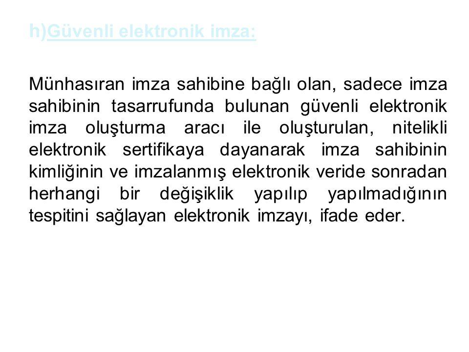 Güvenli elektronik imza: