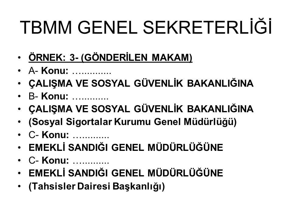 TBMM GENEL SEKRETERLİĞİ