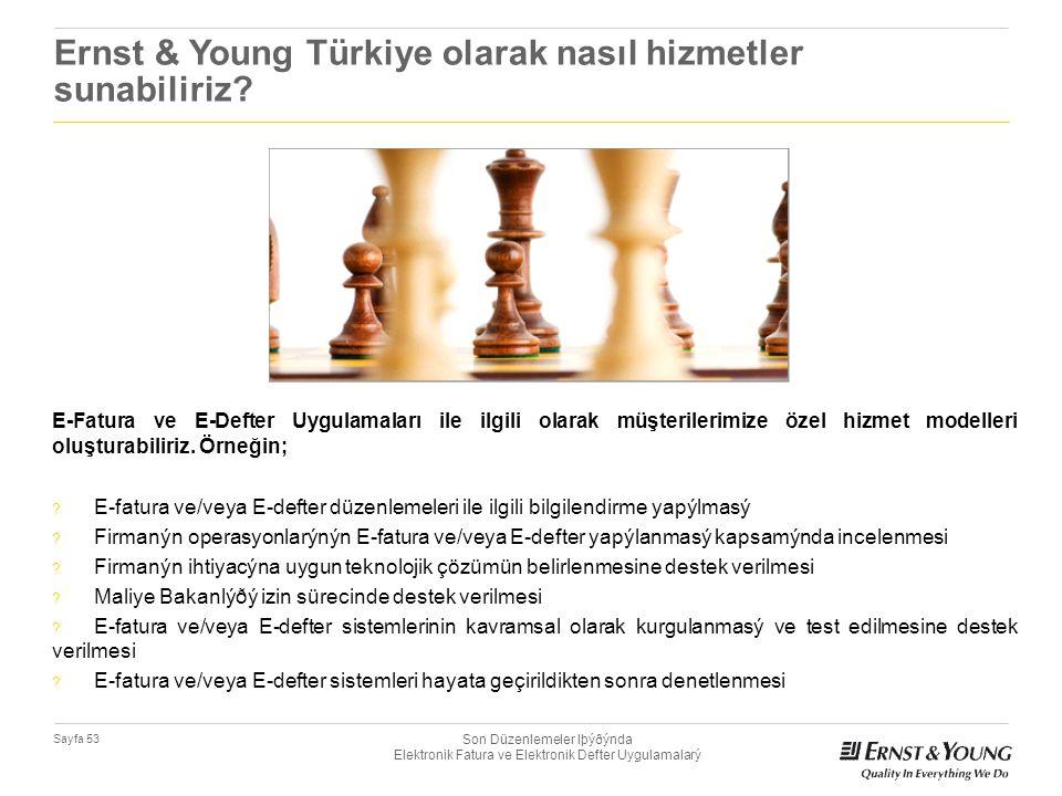 Ernst & Young Türkiye olarak nasıl hizmetler sunabiliriz