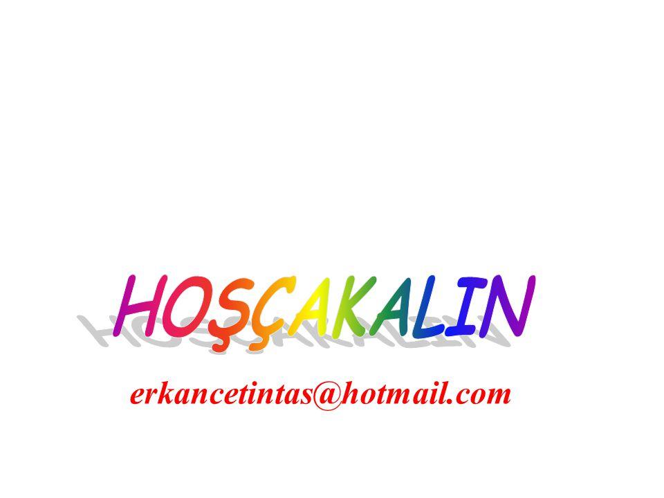 HOŞÇAKALIN erkancetintas@hotmail.com