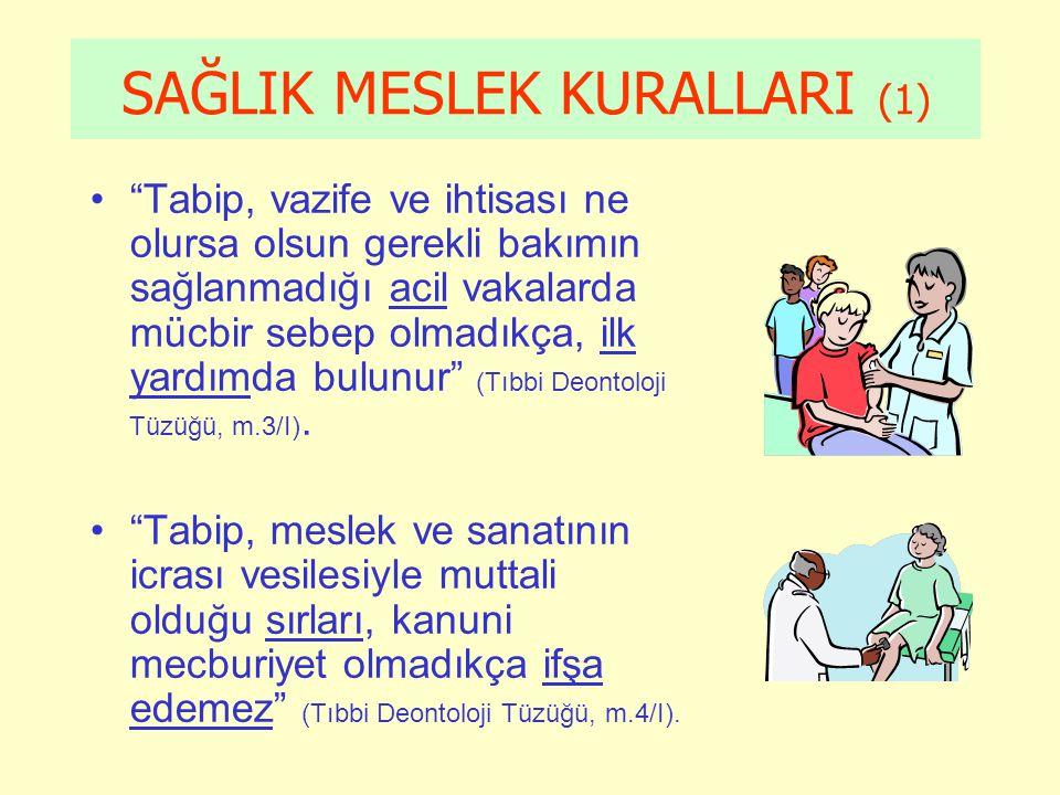 SAĞLIK MESLEK KURALLARI (1)