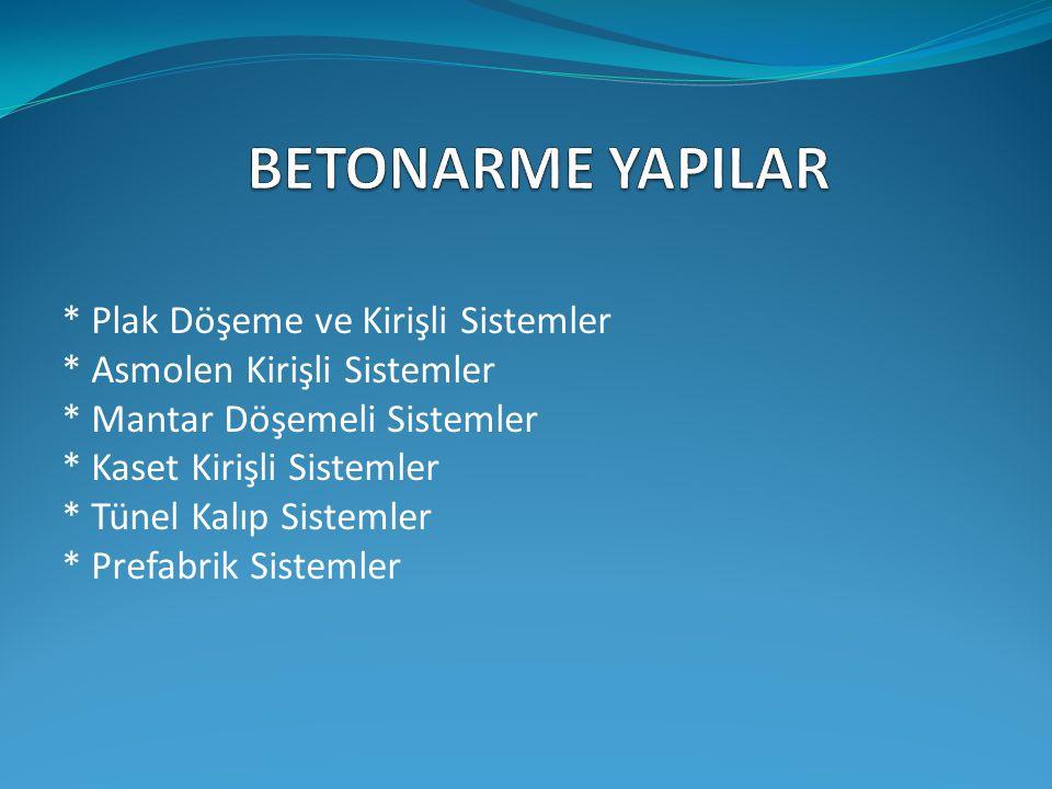 BETONARME YAPILAR