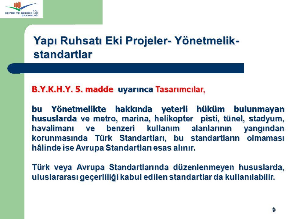 Yapı Ruhsatı Eki Projeler- Yönetmelik-standartlar