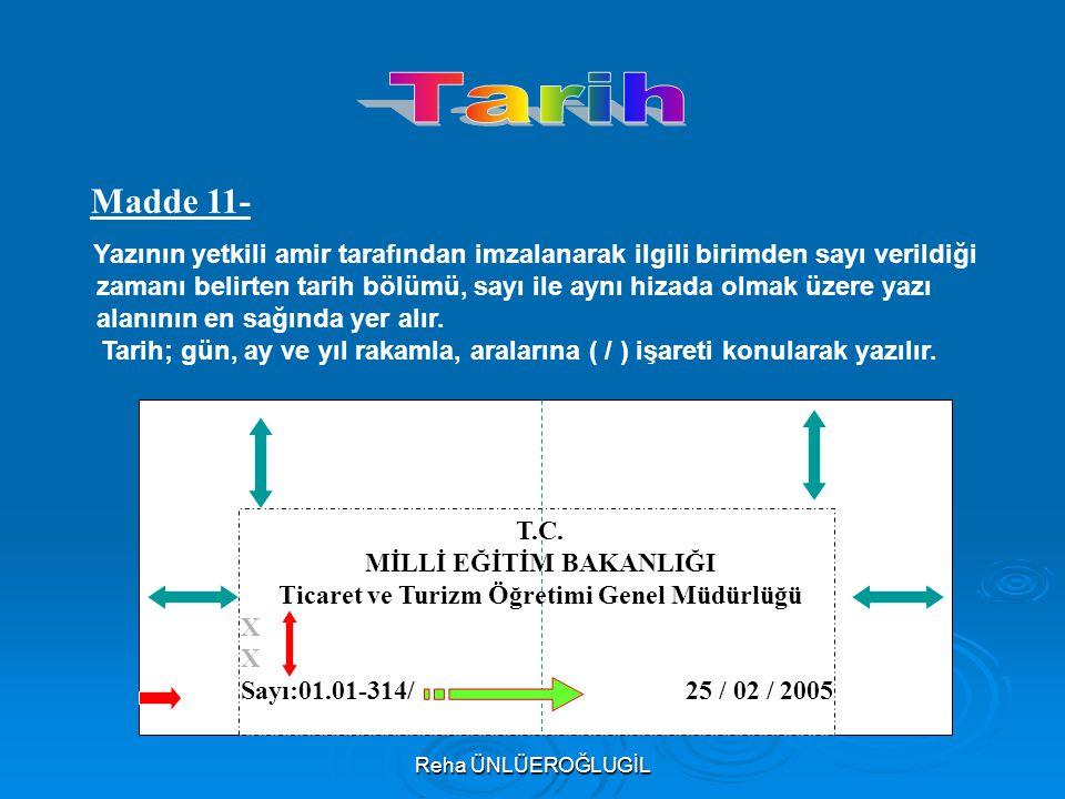 MİLLİ EĞİTİM BAKANLIĞI Ticaret ve Turizm Öğretimi Genel Müdürlüğü