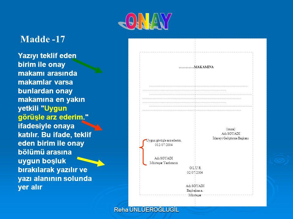 ONAY Madde -17.