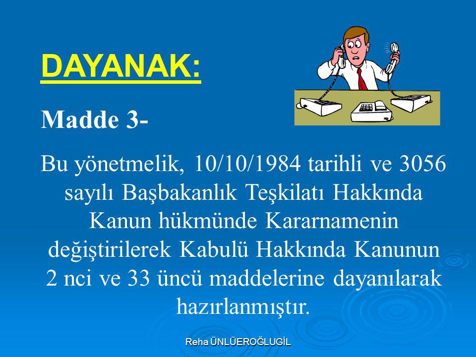 DAYANAK: Madde 3-