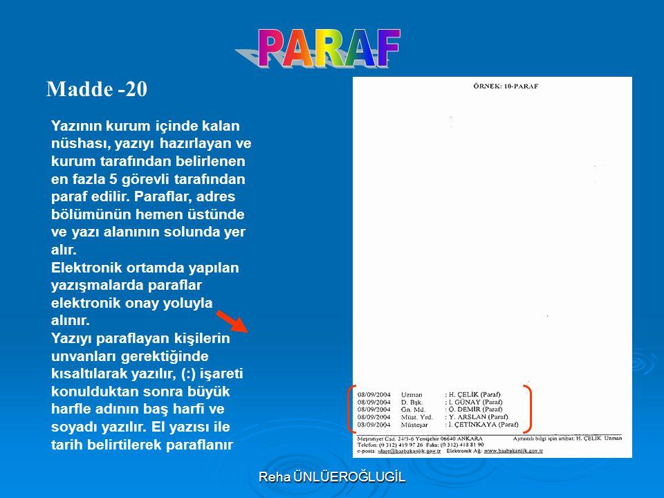 PARAF Madde -20.
