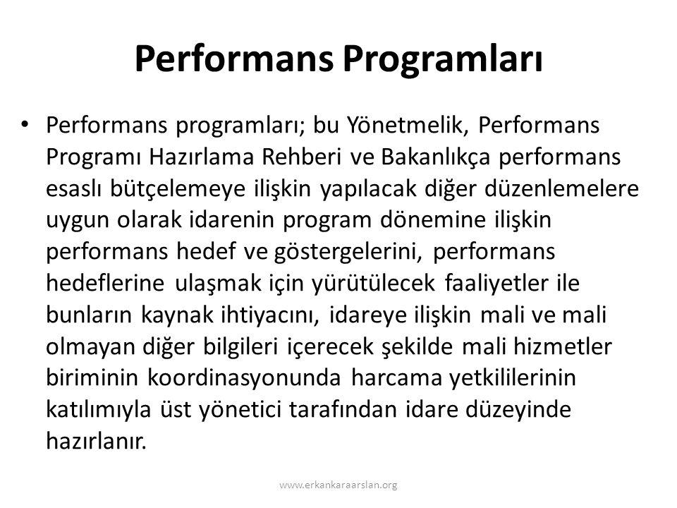 Performans Programları
