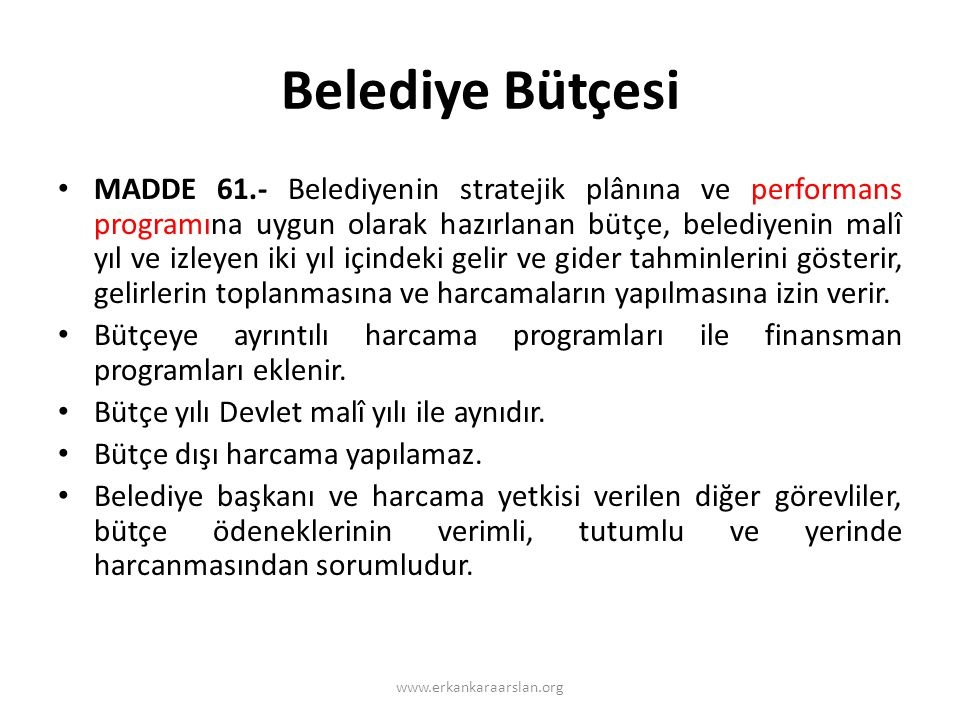Belediye Bütçesi