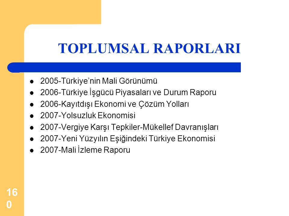 TOPLUMSAL RAPORLARI 2005-Türkiye'nin Mali Görünümü