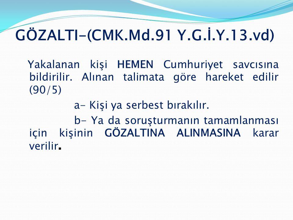 GÖZALTI-(CMK.Md.91 Y.G.İ.Y.13.vd)