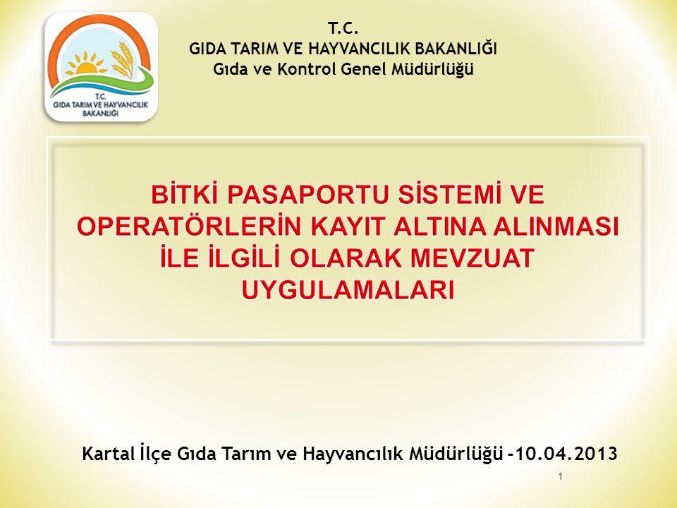 Kartal İlçe Gıda Tarım ve Hayvancılık Müdürlüğü -10.04.2013