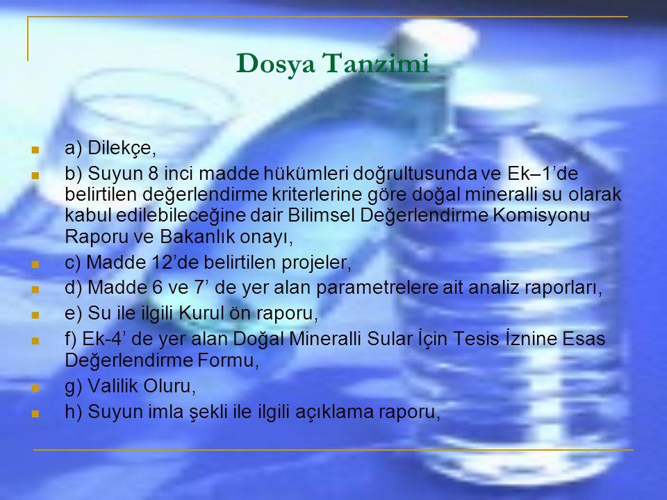 Dosya Tanzimi a) Dilekçe,