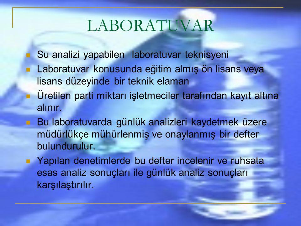 LABORATUVAR Su analizi yapabilen laboratuvar teknisyeni