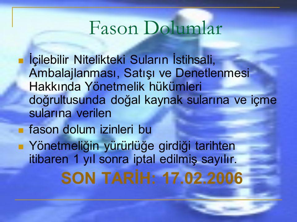 Fason Dolumlar