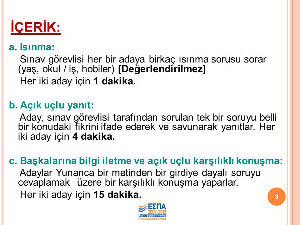 İÇERİK: