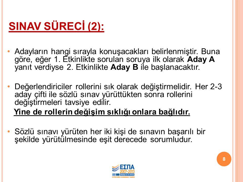 SINAV SÜRECİ (2):
