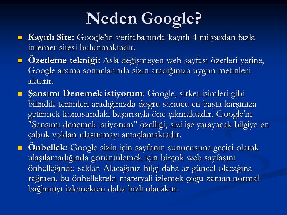 Neden Google Kayıtlı Site: Google'ın veritabanında kayıtlı 4 milyardan fazla internet sitesi bulunmaktadır.