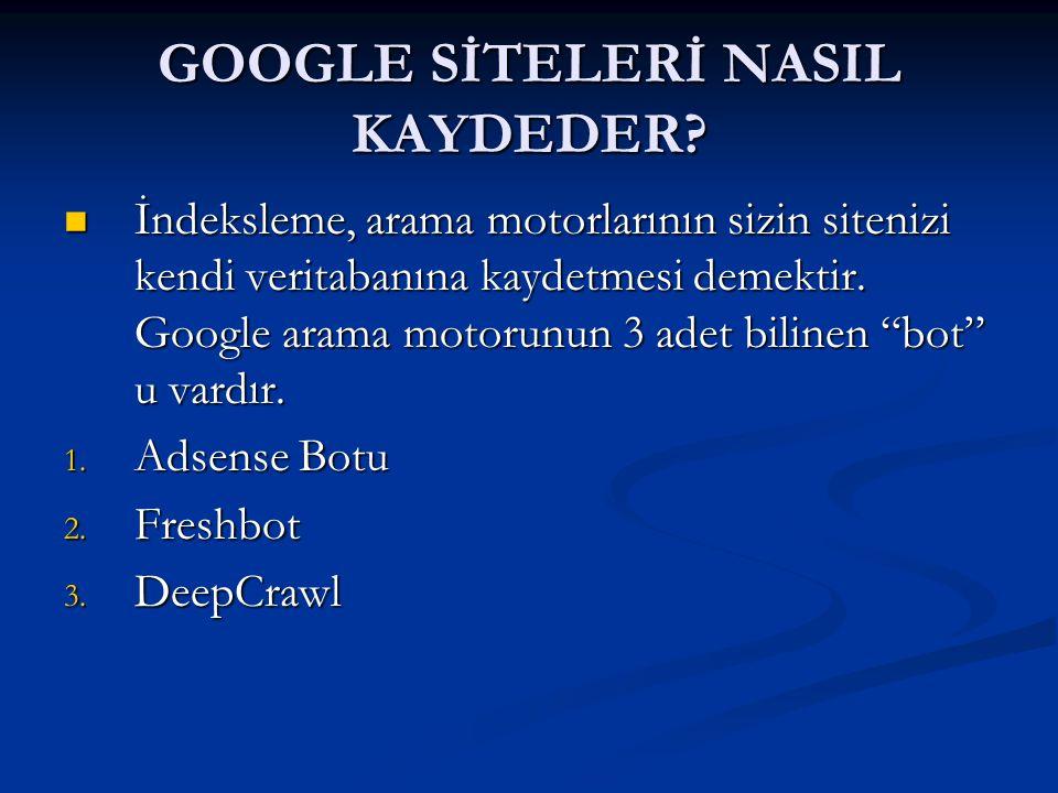 GOOGLE SİTELERİ NASIL KAYDEDER