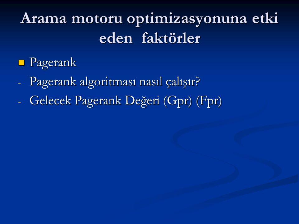 Arama motoru optimizasyonuna etki eden faktörler