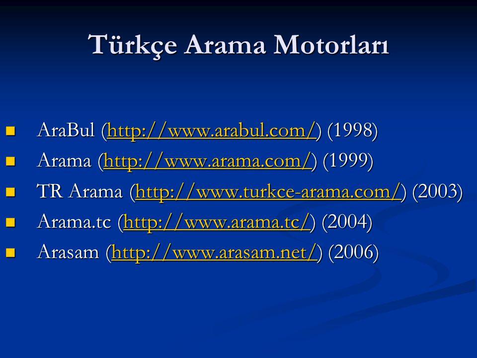 Türkçe Arama Motorları