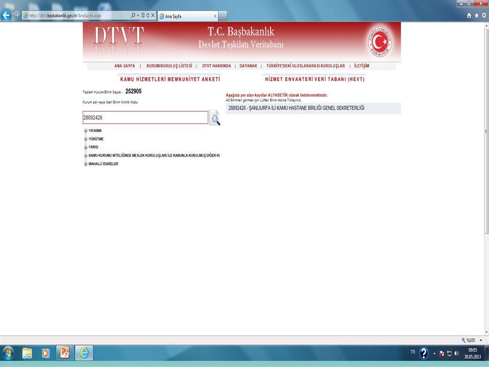 Resmi Yazıların Sayı: bölümündeki Haberleşme Kodu 01/01/2013 tarihi itibariyle Kaldırılarak İdari Birim Kimlik Kodu kullanılmaya başlanmıştır.