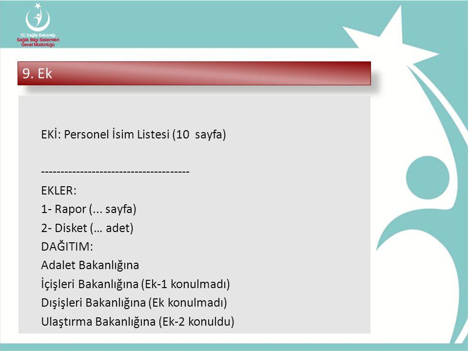 9. Ek EKİ: Personel İsim Listesi (10 sayfa)