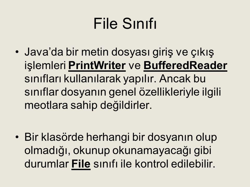 File Sınıfı