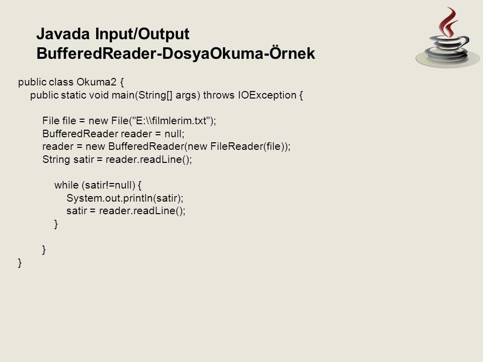 BufferedReader-DosyaOkuma-Örnek