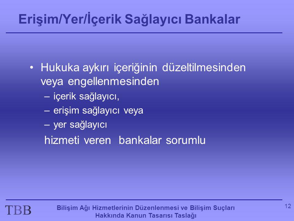 Erişim/Yer/İçerik Sağlayıcı Bankalar